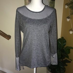 90 degree by reflex stripped long sleeve top Large